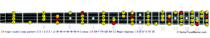 C# Db major bass scale