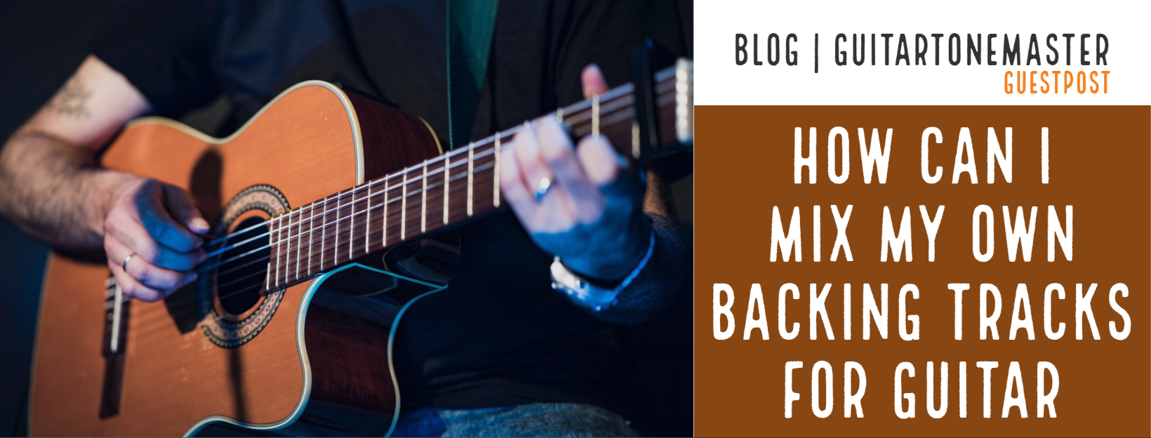 How can I mix my own backing tracks for guitar