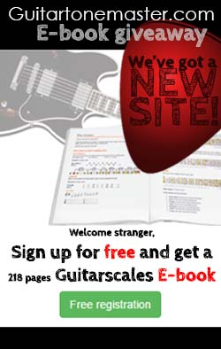 Free E-book guitarscales - Sign up