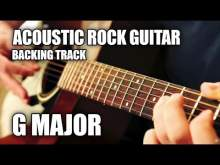 Embedded thumbnail for Acoustic Rock Guitar Backing Track In G Major