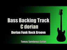 Embedded thumbnail for Bass Backing Track | C dorian | Funk Rock Groove | Chords | Scale | BPM