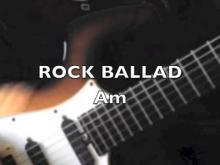 Embedded thumbnail for ROCK BALLAD BACKING TRACK IN Am