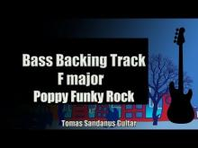 Embedded thumbnail for Bass Backing Track F major - Poppy Funky Rock - NO BASS - Chords - Scale - BPM