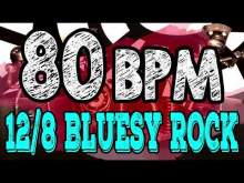 Embedded thumbnail for 80 BPM - Blues Rock Shuffle #1  - 12/8 Drum Track - Metronome - Drum Beat