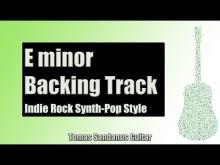Embedded thumbnail for Backing Track in Em Pop Rock Alternative with Chords and E minor Pentatonic Scale
