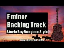 Embedded thumbnail for Stevie Ray Vaughan Style Backing Track in F minor - Slow Blues Guitar Backtrack - Chords Scale BPM
