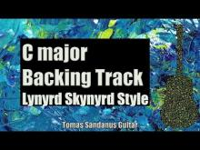 Embedded thumbnail for Lynyrd Skynyrd Style Backing Track in C major - Southern Rock Guitar Backtrack - Chords - Scale -BPM