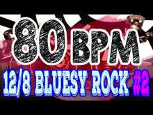 Embedded thumbnail for 80 BPM - Blues Rock Shuffle #2 - 12/8 Drum Track - Metronome - Drum Beat