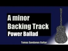 Embedded thumbnail for Power Ballad Backing Track in Am | Slow Rock Guitar Backtrack | Chords | Scale | BPM