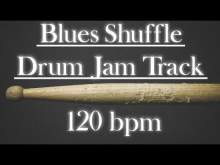 Embedded thumbnail for Blues Shuffle Drum Jam Track 120 bpm
