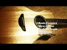 Embedded thumbnail for Rock Country Slow Guitar Backing Track in Em