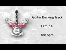 Embedded thumbnail for Guitar Backing Track / Jam Track F#m 100 bpm