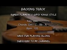 Embedded thumbnail for Backing Track Flamenco Spanish Rumba Dm