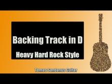 Embedded thumbnail for Guitar Backing Track in D | Heavy Hard Rock Style
