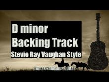 Embedded thumbnail for Stevie Ray Vaughan Style Backing Track in D minor - Slow Blues Guitar Backtrack - Chords  Scale  BPM