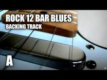Embedded thumbnail for Rock 12 Bar Blues Guitar Backing Track In A