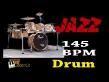 Embedded thumbnail for Jazz 145 bpm - Jazz Rhythm Drums