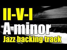 Embedded thumbnail for II-V-I jazz swing Backing track in A minor