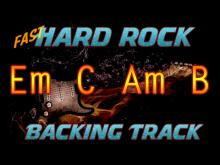 Embedded thumbnail for Hard Rock Fast Guitar Backing Track E minor