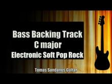 Embedded thumbnail for Bass Backing Track C major - Electronic Soft Pop Rock - NO BASS - Chords - Scale - BPM