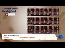 Embedded thumbnail for Rock Exercise in Am - Guitar Backing Track scale