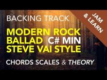 Embedded thumbnail for Modern Rock Ballad Steve Vai Style in C# minor