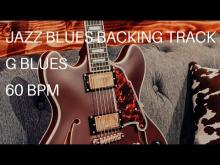 Embedded thumbnail for Jazz Blues Guitar Backing Track | G (60 Bpm)