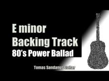 Embedded thumbnail for 80's Power Ballad Backing Track in E minor | Guitar Backtrack | Chords | Scale | BPM