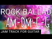 Embedded thumbnail for Emotional Rock Ballad Backing Track for Guitar in A minor (Am)