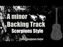 Embedded thumbnail for Scorpions Style Backing Track in A minor - Power Ballad Guitar Backtrack - Chords - Scale - BPM