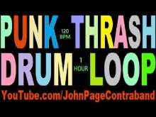 Embedded thumbnail for 120 bpm Hour Long D-Beat Punk Thrash Metal Crust Drum Loop Backing Track