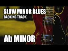 Embedded thumbnail for Slow Minor Blues Guitar Backing Track In Ab Minor