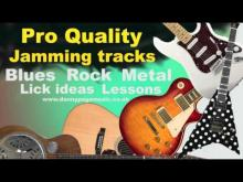 Embedded thumbnail for Pro quality jamming track - Dm Blues Rockabilly Shuffle Brian Setzer Style