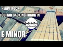 Embedded thumbnail for Heavy Rock Guitar Backing Track In E Minor