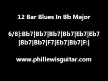Embedded thumbnail for 12 Bar Blues Backing Track In Bb Major