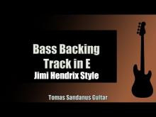 Embedded thumbnail for Bass Backing Track Jam in E | Jimi Hendrix Style