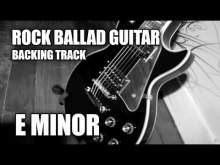 Embedded thumbnail for Rock Ballad Guitar Backing Track In E Minor / A Dorian