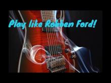 Embedded thumbnail for Blues backing track in c major (Robben Ford Style)