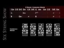 Embedded thumbnail for E Minor-Harmonic Minor Guitar Backing Track