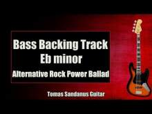 Embedded thumbnail for Bass Backing Track Eb minor - Ebm - Alternative Indie Power Ballad - NO BASS