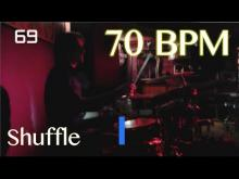 Embedded thumbnail for 70 BPM Shuffle Beat - Drum Track
