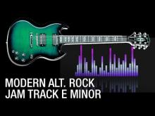 Embedded thumbnail for E Minor Modern Rock Backing Track 145 bpm