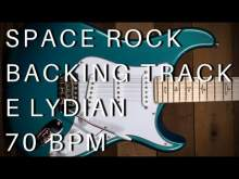 Embedded thumbnail for Space Rock Guitar Backing Track   E Lydian (70 bpm)