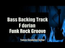 Embedded thumbnail for Bass Backing Track F dorian - Funk Rock Groove - NO BASS - Chords - Scale - BPM