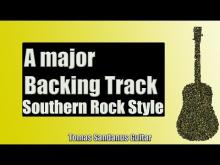 Embedded thumbnail for Southern Rock Backing Track in A major | Guitar Backtrack | Chords | Scale | BPM