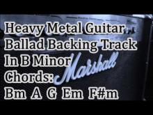 Embedded thumbnail for Sad Metal Guitar Ballad Backing Track In B Minor