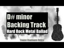 Embedded thumbnail for D# minor Backing Track - Hard Rock Metal Ballad Guitar Backtrack - Chords - Scale - BPM