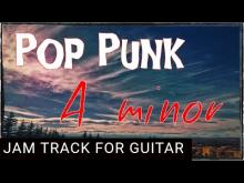 Embedded thumbnail for Pop Punk Backing Track for Guitar in A minor (Am)