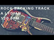 Embedded thumbnail for Rock Guitar Backing Track | A Lydian (120 Bpm)