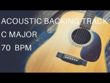 Embedded thumbnail for Acoustic Guitar Backing Track | C Major (70 Bpm)